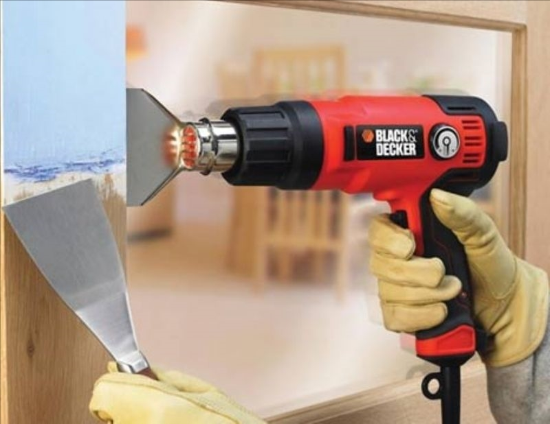 Heat gun paint stripper